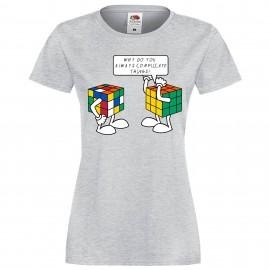 """Дамска тениска с щампа """"Complicated Things"""""""