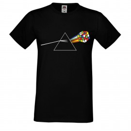 """Мъжка тениска с щампа """"Pink Floyd Cube"""""""
