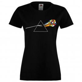 """Дамска тениска с щампа """"Pink Floyd Cube"""""""