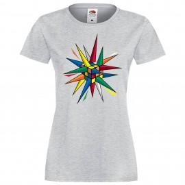 """Дамска тениска с щампа """"Rubik Star"""""""