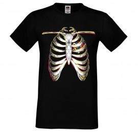 """Мъжка тениска с щампа """"Rubik Skeleton"""""""
