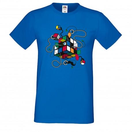 """Мъжка тениска с щампа """"Inspector Gadget"""" - Синя"""