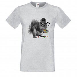 """Мъжка тениска с щампа """"Smart Squirrel"""""""
