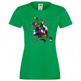 """Дамска тениска с щампа """"Inspector Gadget"""" - Зелена"""