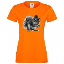 """Дамска тениска с щампа """"Smart Squirrel"""""""