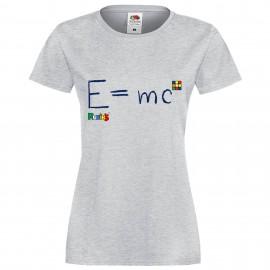 """Дамска тениска с щампа """"Einstein"""" - Сива"""