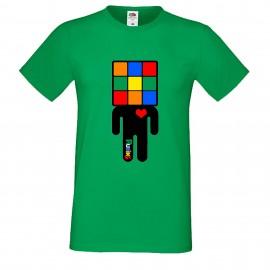 """Мъжка тениска с щампа """"Manicon"""" - Зелена"""