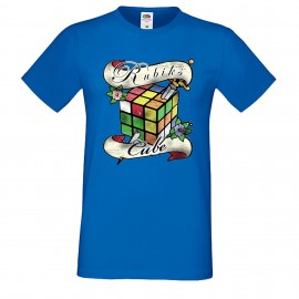 """Мъжка тениска с щампа """"Tattoo 2 Distressed"""" - Синя"""