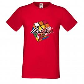 """Мъжка тениска с щампа """"Rubiks Distressed"""""""