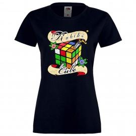 """Дамска тениска с щампа """"Tattoo 2"""" - Тъмно синя"""