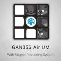 Куб за скоростно нареждане Gancube Gan356 Air UM 56мм Magnetic - Черен