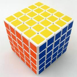 Магически куб ShengShou 5x5x5 64мм - Бял