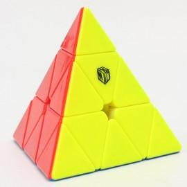 Магически пъзел за скоростно нареждане QiYi X-Man Design Bell Pyraminx Magnetic - Stickerless