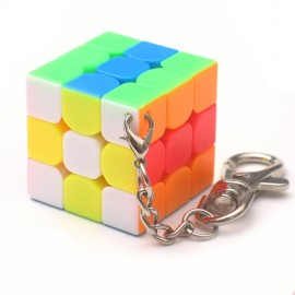 Ключодържател мини Рубик кубче 30мм - Stickerless