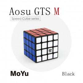 Куб за скоростно нареждане MoYu AoSu GTS M 4x4x4 62мм Magnetic - Черен