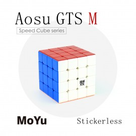 Кубче за скоростно нареждане MoYu AoSu GTS M 4x4x4 62мм - Stickerless