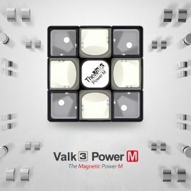 Куб за скоростно нареждане QiYi Valk3 Power M 3x3x3 55.5мм Magnetic - Черен