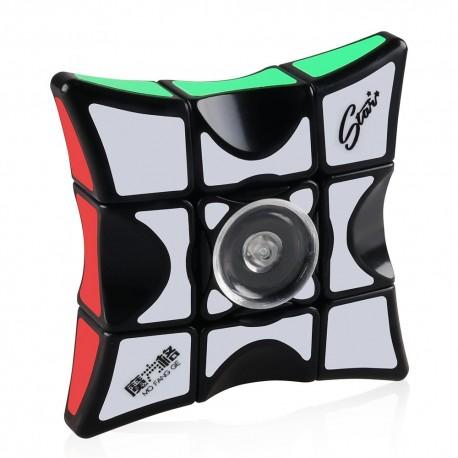 Магически пъзел QiYi MoFangGe 1x3x3 Fidget Cube -Черен
