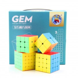 Комплект магически кубове ShengShou Gem 2x2, 3x3, 4x4, 5x5 - Stickerless