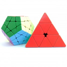 Комплект магически пъзели ShengShou Gem Megaminx & Pyraminx