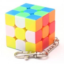 Ключодържател мини Рубик кубче Mini Moyu MoFangJiaoShi 40мм - Stickerless