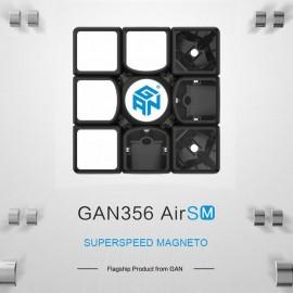 Куб за скоростно нареждане Gancube Gan356 Air SM 3x3x3 56мм Magnetic - Черен (2019 Edition)