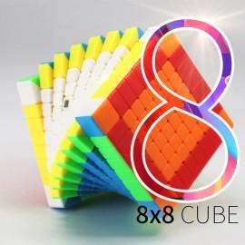 Куб за скоростно нареждане MoFang JiaoShi 8x8x8 MF8 69мм - Stickerless