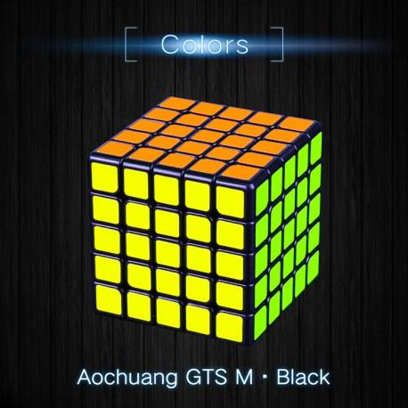 Куб за скоростно нареждане MoYu AoChuang GTS5 M 5x5x5 63мм Magnetic - Черен