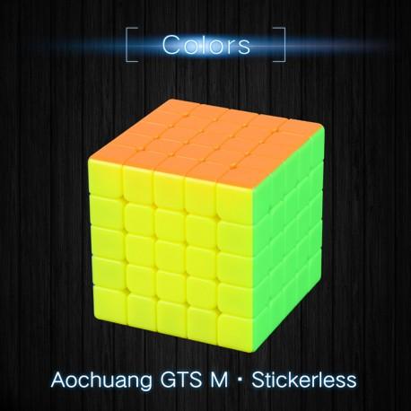 Куб за скоростно нареждане MoYu AoChuang GTS5 M 5x5x5 63мм Magnetic - Stickerless