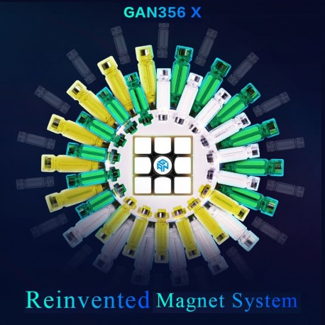 Куб за скоростно нареждане Gancube Gan356 X Numerical IPG 56мм - Черен
