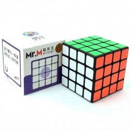 Куб за скоростно нареждане ShengShou Mr. M 4x4x4 62мм Magnetic - Черен