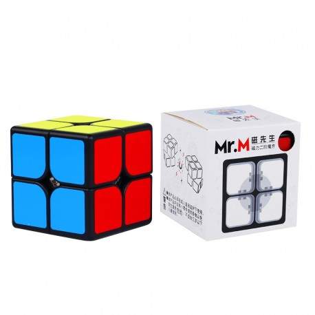 Магически куб ShengShou Mr. M Magnetic 2x2x2 49мм - Черен