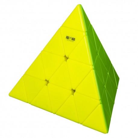 Магически пъзел за скоростно нареждане QiYi Master Pyraminx 4x4x4 - Stickerless
