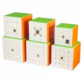 Комплект кубове за скоростно нареждане Cubing Classroom (2x2, 3x3, 4x4, 5x5, 6x6, 7x7) - Stickerless