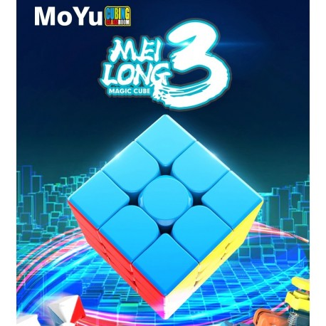 Куб за скоростно нареждане MoFang JiaoShi MeiLong 3x3x3 55мм - Stickerless