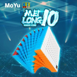 Куб за скоростно нареждане MoFang JiaoShi MeiLong 10x10x10 84мм - Stickerless