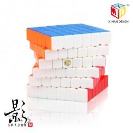Куб за скоростно нареждане QiYi X-Man Shadow M 6x6x6 65мм Magnetic - Stickerless
