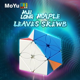 Магически пъзел MoFang JiaoShi MeiLong Maple Leaf Skewb - Stickerless