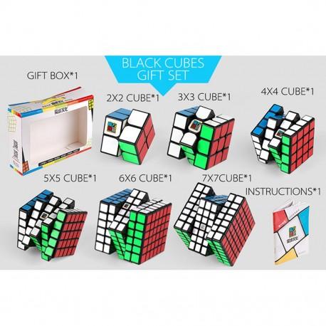 Комплект кубове за скоростно нареждане Cubing Classroom (2x2, 3x3, 4x4, 5x5, 6x6, 7x7) - Черни