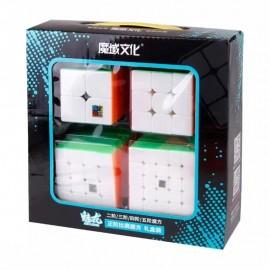 Комплект магически кубове Cubing Classroom MeiLong (2x2, 3x3, 4x4, 5x5) - Stickerless