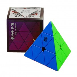 Магически пъзел за скоростно нареждане YongJun YuLong Pyraminx V2 Magnetic - Stickerless