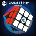 Смарт куб за скоростно нареждане Gancube Gan356i Play Magnetic 56мм - Черен