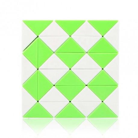 Магически пъзел QiYi Magic Snake Ruler 36 части - Зелен/Бял
