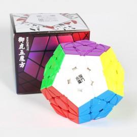 Магически пъзел за скоростно нареждане YongJun YuHu Megaminx V2 Magnetic - Stickerless