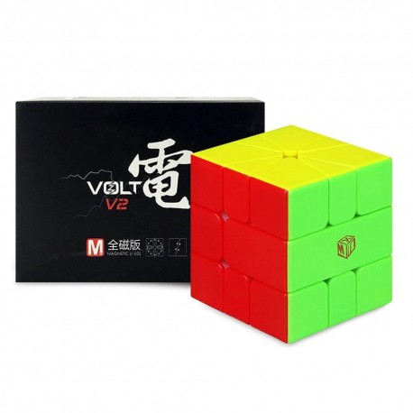 Магически пъзел за скоростно нареждане QiYi X-Man Volt Square-1 V2 Magnetic UD - Stickerless