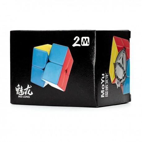 Куб за скоростно нареждане MoFang JiaoShi Meilong M 2x2x2 50мм Magnetic - Stickerless