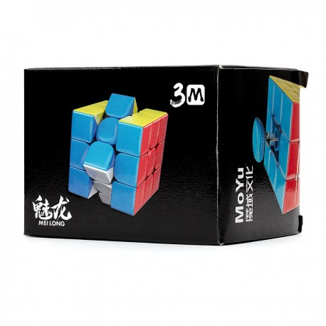 Куб за скоростно нареждане MoFang JiaoShi Meilong M 3x3x3 56мм Magnetic - Stickerless