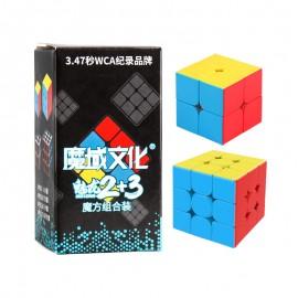 Комплект кубове за скоростно нареждане Cubing Classroom MeiLong (2x2, 3x3) - Stickerless
