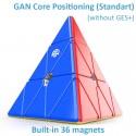 Магически пъзел за скоростно нареждане Gancube Pyraminx Magnetic Standart - Stickerless