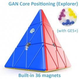 Магически пъзел за скоростно нареждане Gancube Pyraminx Magnetic Explorer - Stickerless